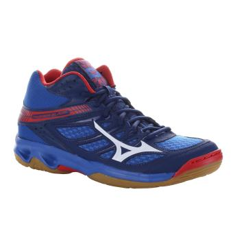 Harga preferensial Sepatu voli Mizuno V1GA187527 THUNDER BLADE MID -  NAUTICAL BLUE WHITE HIGH RISK RED 163c2132e7