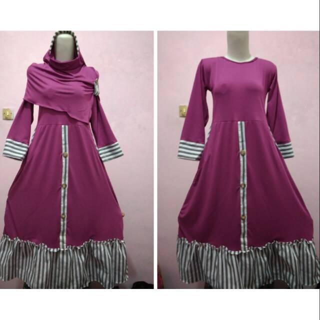 Gamis remaja rempel busana muslim wanita anak perempuan tanggung 12 - 14th ()
