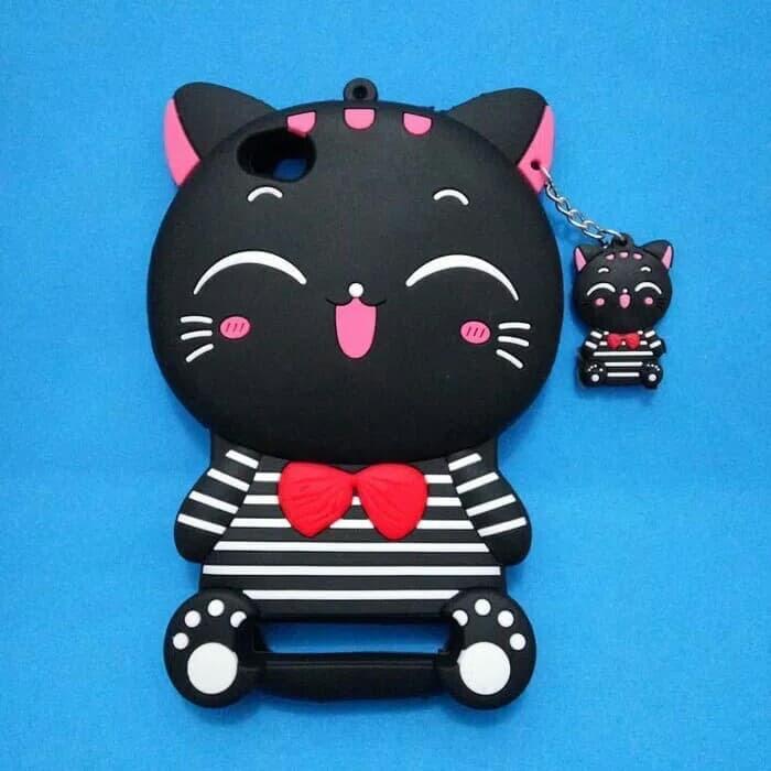 Case 4D Mimi Cat for Xiaomi Redmi 4X / Karakter Case / Soft Case / 3D Mimi Cat / Cat Smile / Kucing