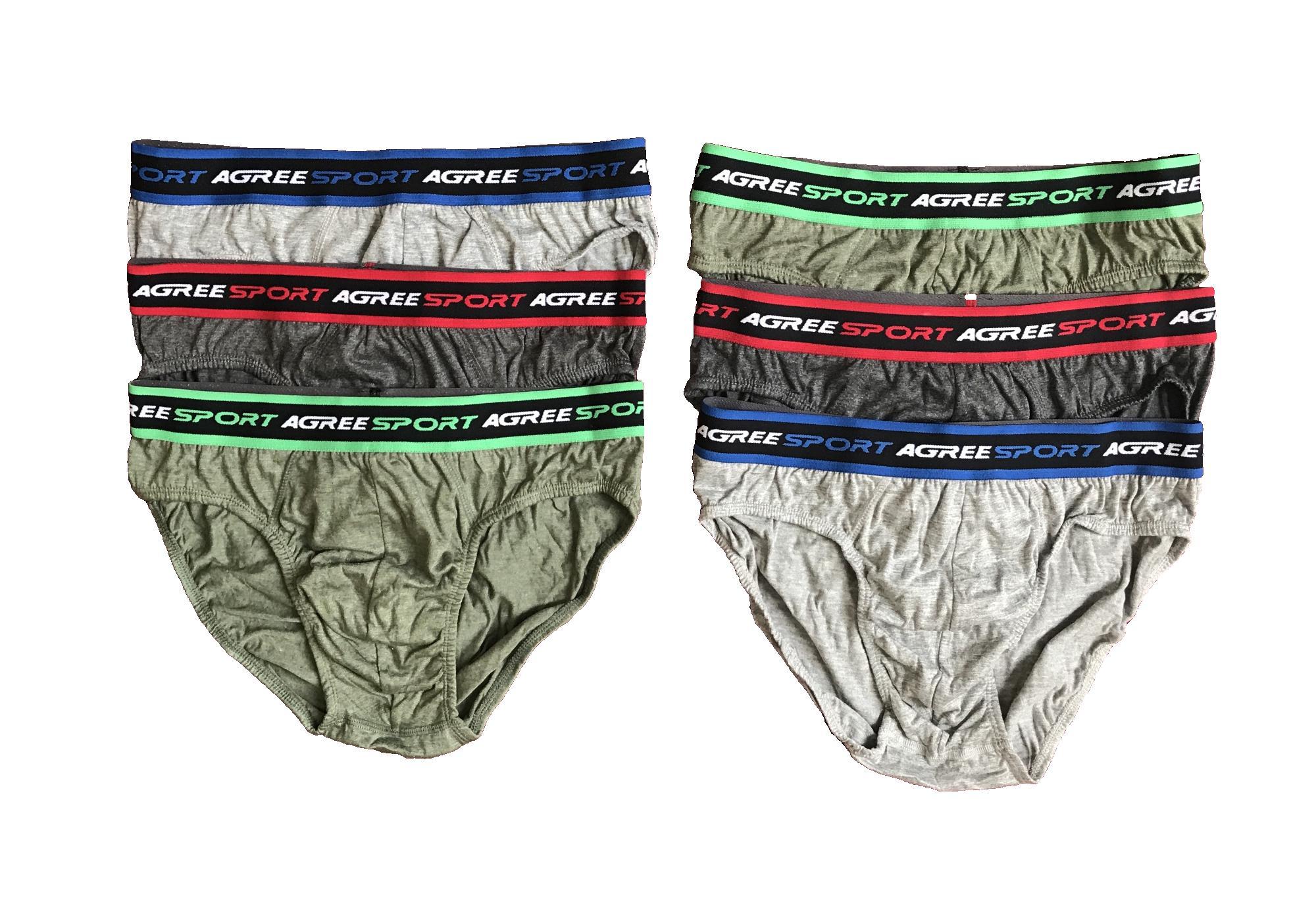 PADIe - 6 PCS Celana Dalam Pria Boxer AGREE SPORT Multi Colour /sempak/underwear Laki-laki