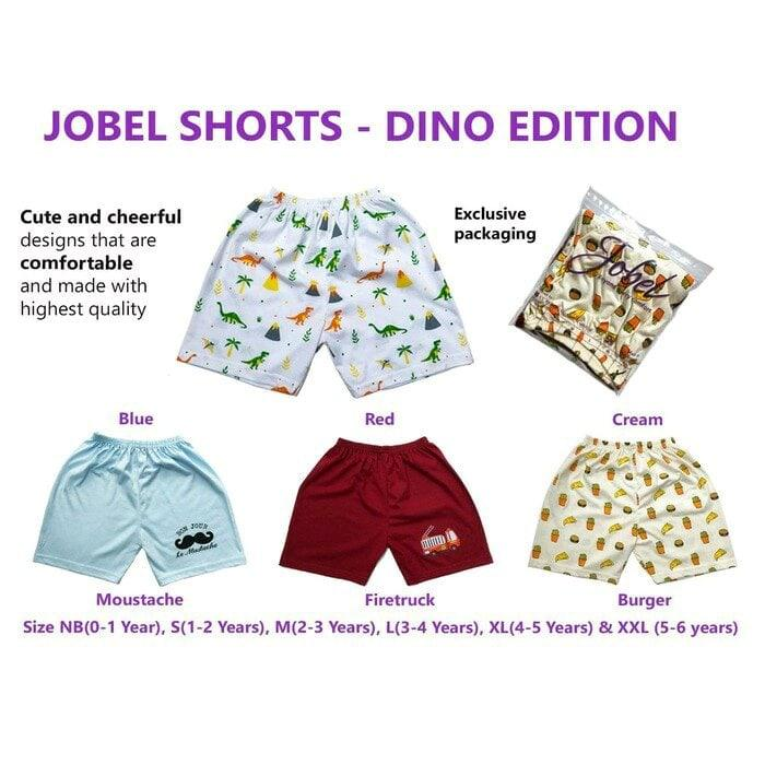 4pcs Jobel Shorts - Dino Edition Celana Pendek Kazel (0 Sd 6 Tahun) Bigbabyshop By Bigbabyshop.