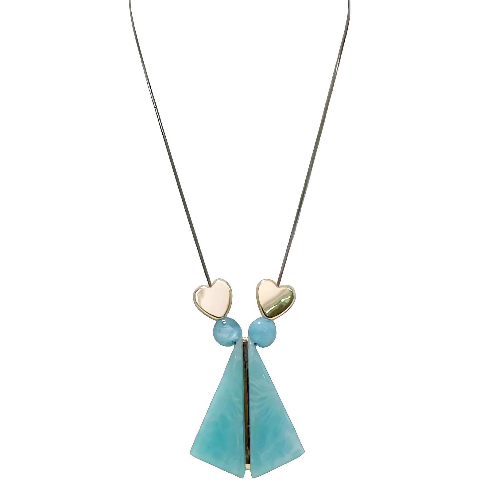 OFASHION Aksesoris Kalung Wanita [Panjang 78CM] Necklace Fashion Xuping Jewelry CA-180509-K020 Biru