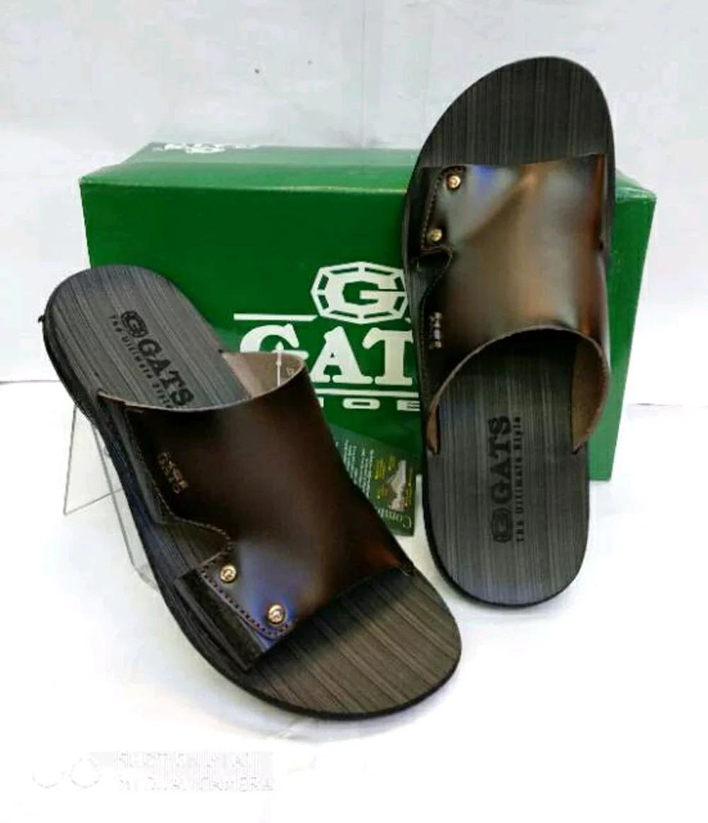 Sandal Kulit Gats SR 003 - Black