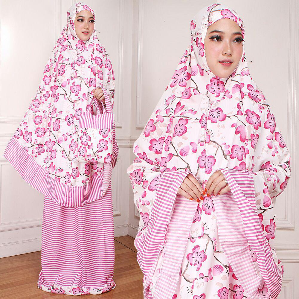 Mukena trendy dewasa adem katun jepang naila batik tosca