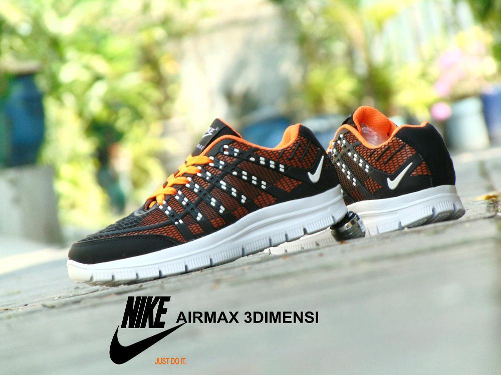 ... germany sepatu sport sporty sneakers murah airmax 3d skin hitam orange  casual olahraga pria 5f6c4 a88be 9a795e04f6
