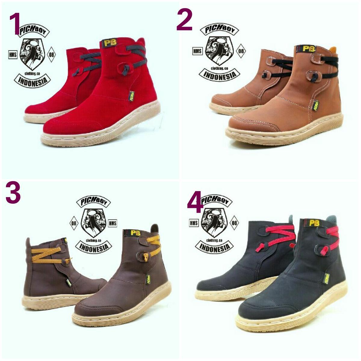 Sepatu Boots Woman Pichboy Original Boots Sepatu Boots Wanita #02