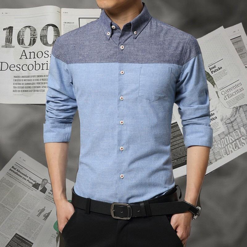 Theclover ROGER'S/ Kemeja Pria slim fit lengan panjang /HEM kemeja polos/kemeja kantor/kemeja kerja