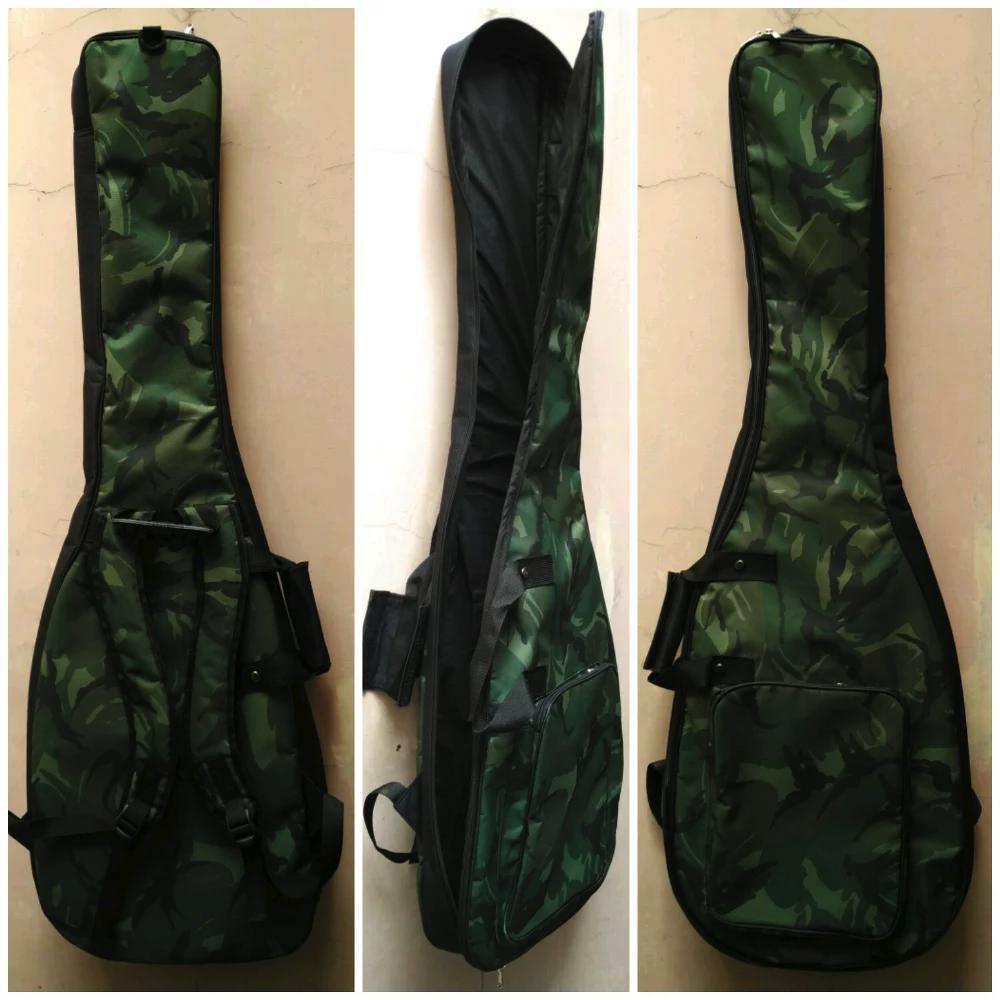 Gigbag Tas Gitar Elektrik Universal Coklat Kombinasi Hitam Daftar Akustik Softcase Jumbo Bass Motif Army