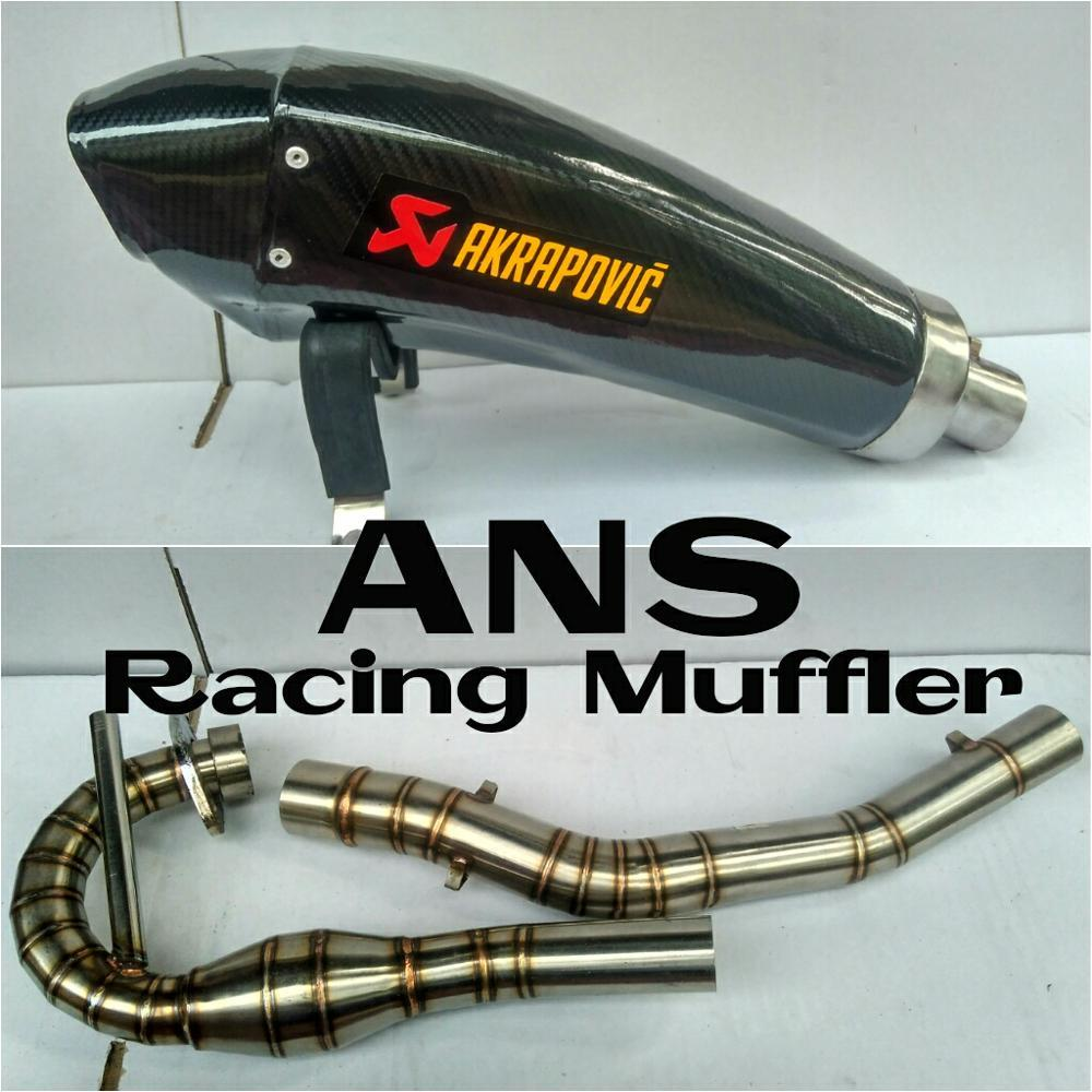 Knalpot Racing Akrapovic H2R Fullsystem Untuk Motor Kawasaki KLX 150 S L BF dTracker New