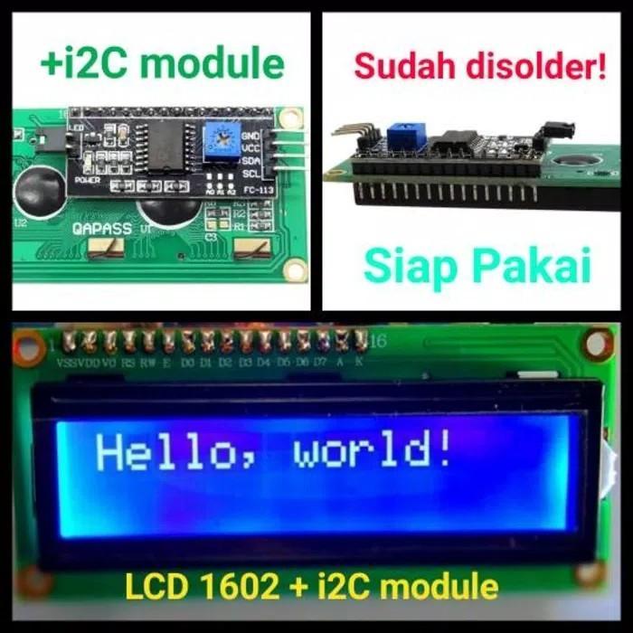 LCD 1602 Blue with Module I2C IIC serial fo Arduino
