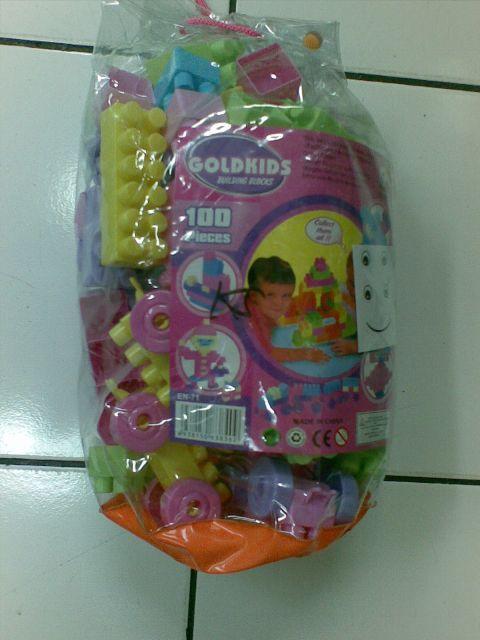 Mainan Anak Perempuan Laki Laki Block Goldkis 100 pcs