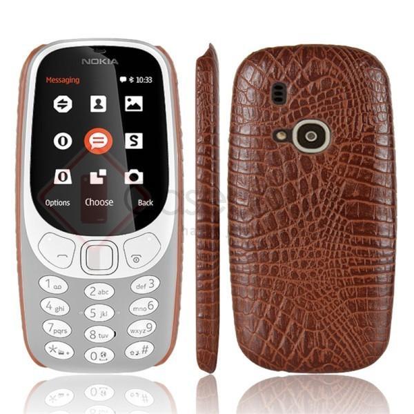 Nokia 3310 Reborn 2017 - Crocodile Luxury Leather Back Case Cover