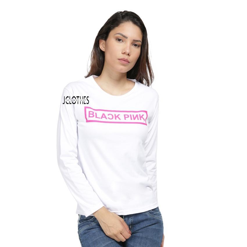 JCLOTHES Tumblr Tee / Kaos Cewe / Kaos Lengan Panjang Wanita Blackpink