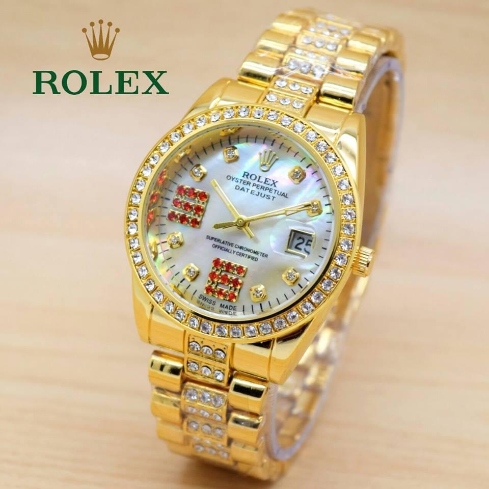 Jam Tangan Wanita Rolex Rantai Gold
