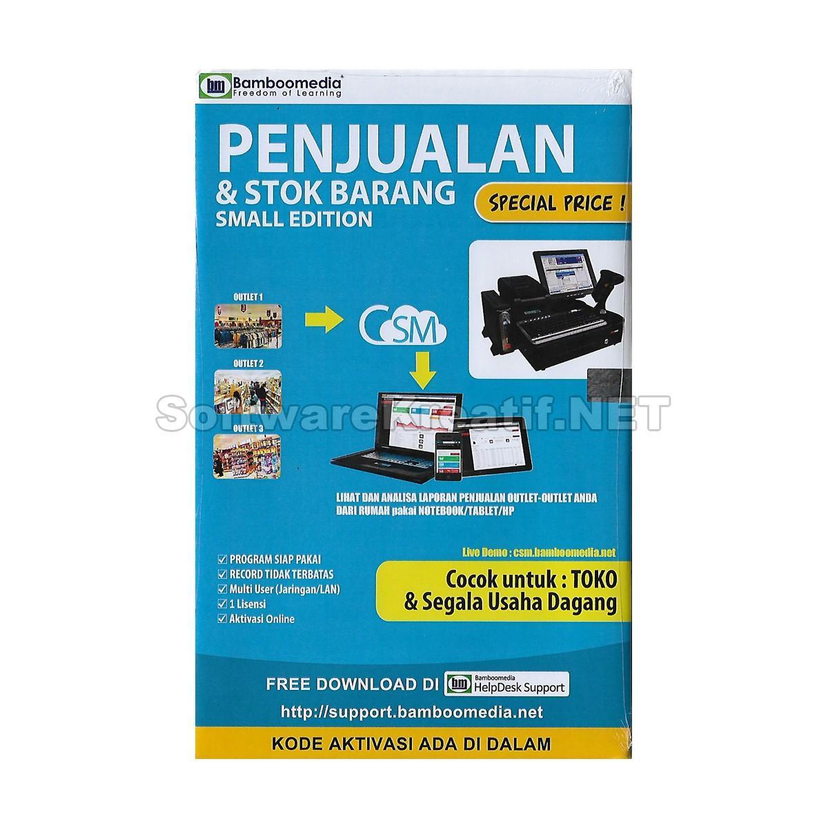 Bamboomedia Program Penjualan Dan Stok Barang Small Edition - Software Untuk Toko Dan Segala Usaha Dagang