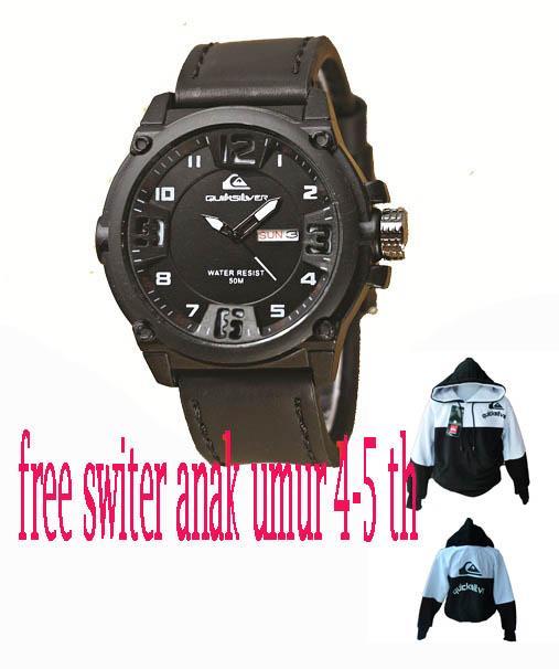 jam tangan pria quick silver gratis switer anak quick silver limited edition