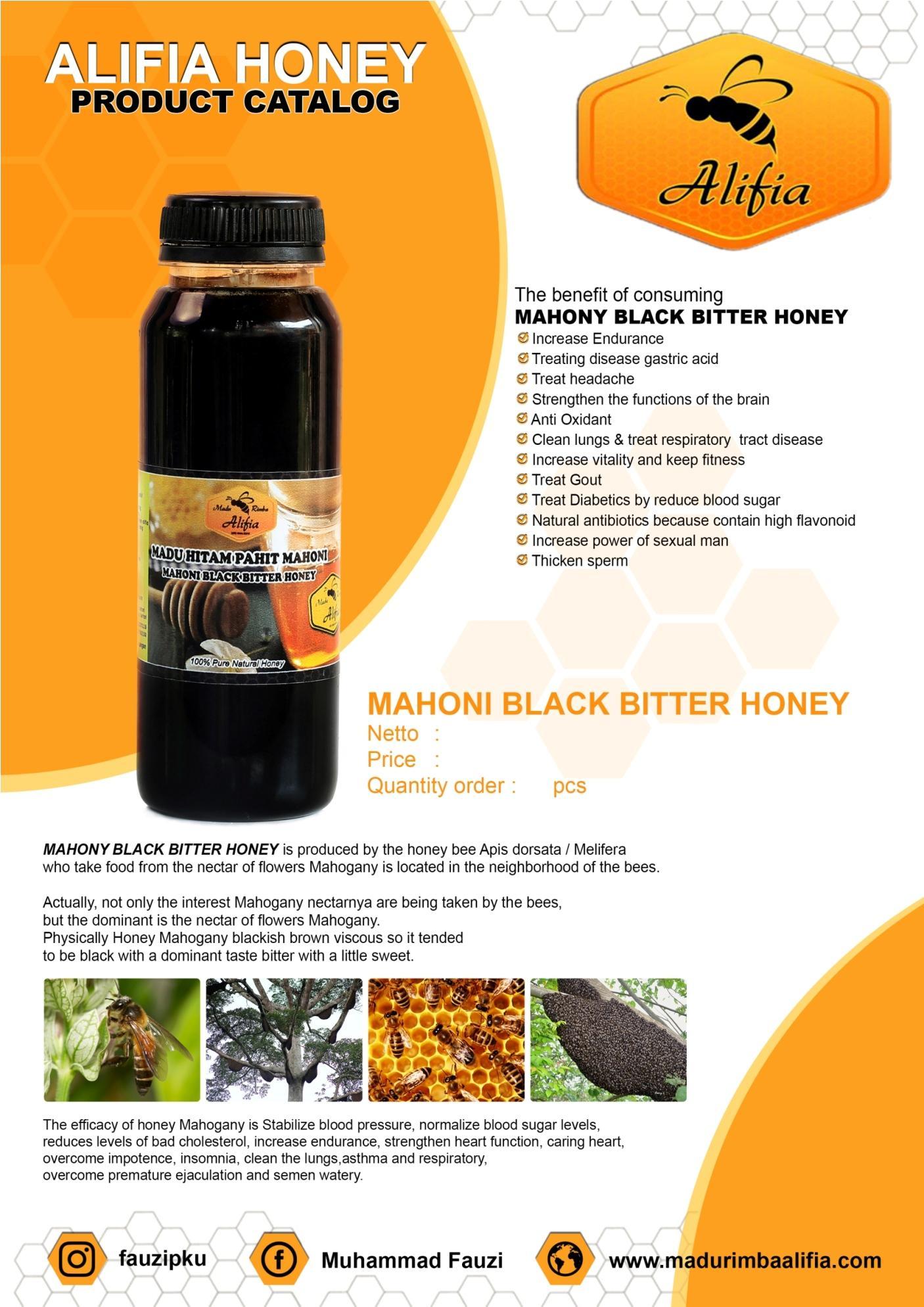 Madu Hitam Pahit Mahoni (Mahoni Black Bitter Honey)