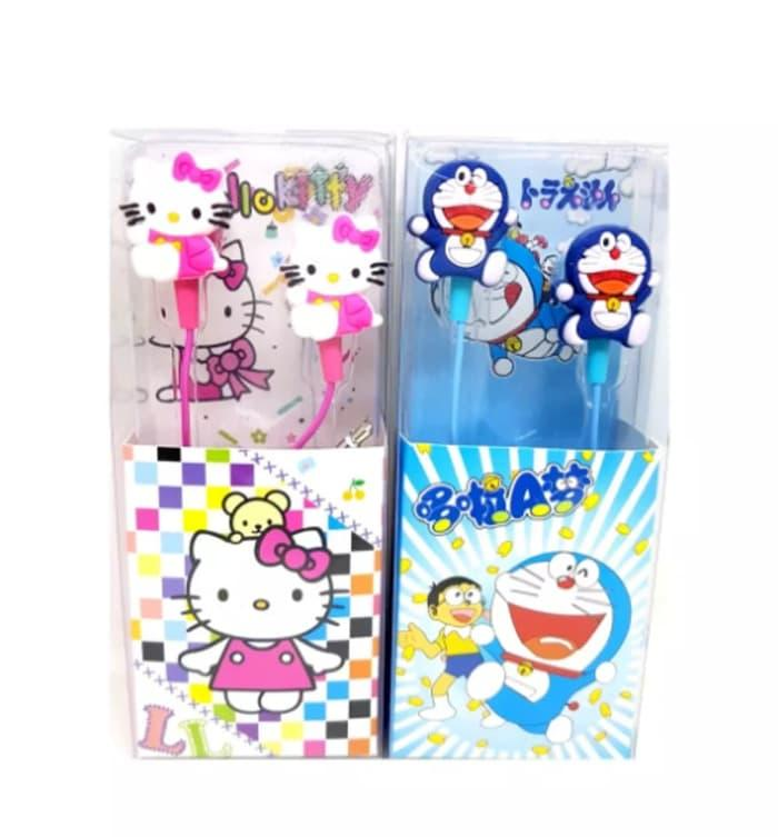 Handsfree Karakter  Hello Kitty - Headset Earphone Karakter Lucu