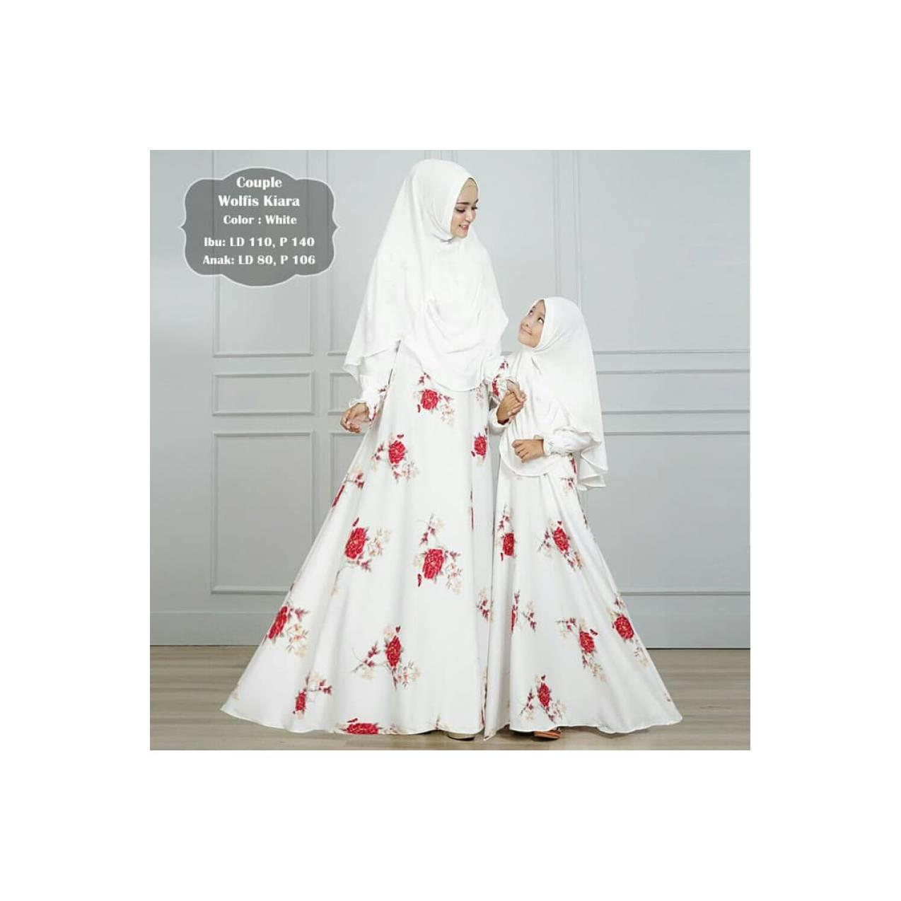 couple syar'i ibu dan anak / baju muslim / gamis / dress