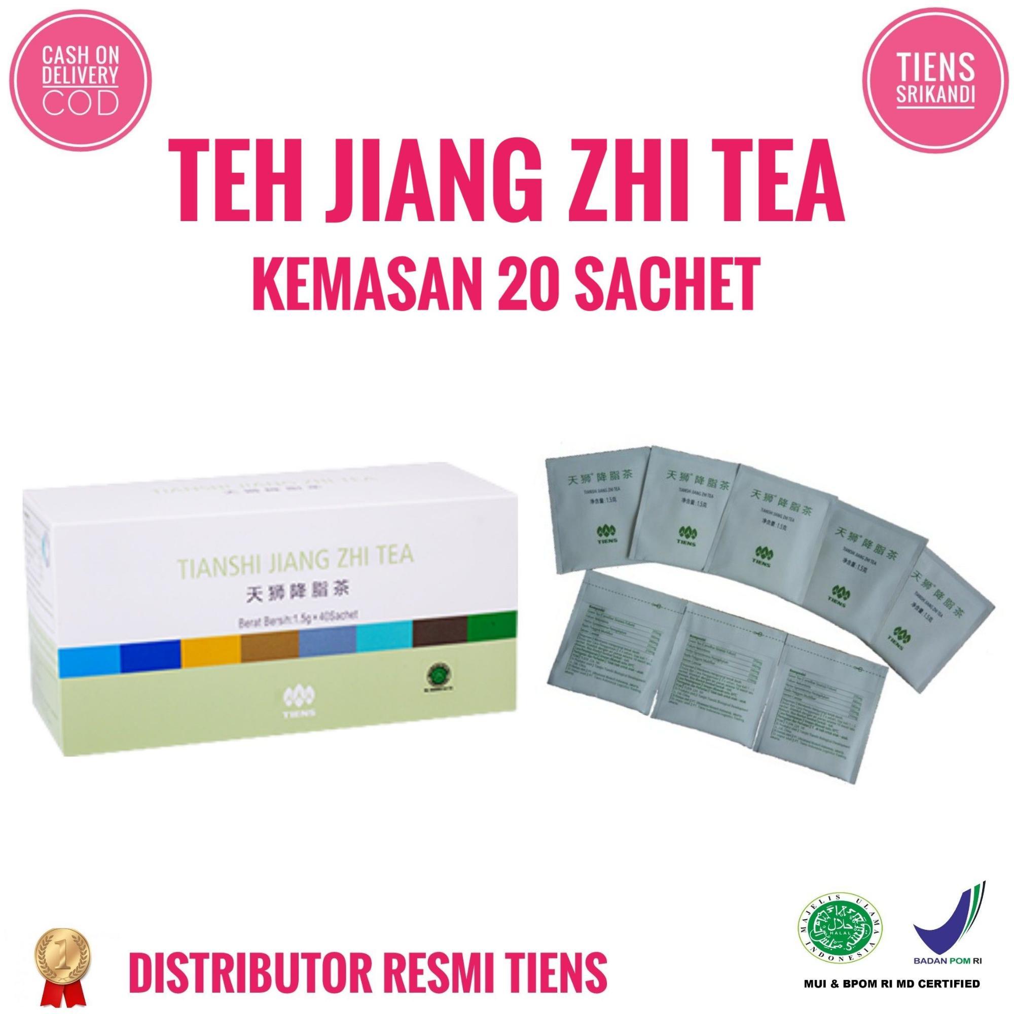 Tiens Jiang Zhi Tea Penurun Berat Badan Kemasan 20 Sachet Free Member Card + Gift
