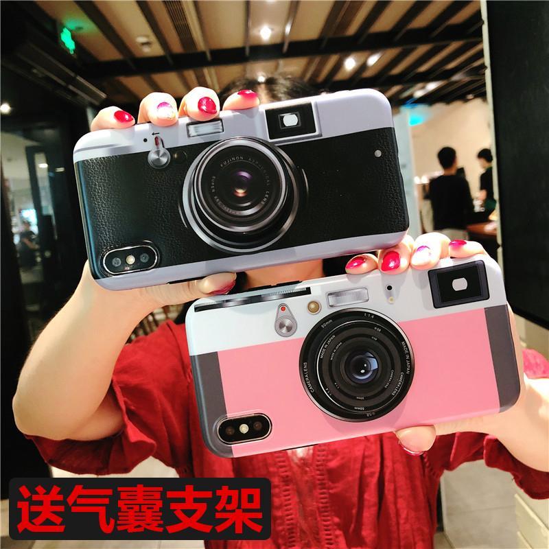 Trendi Casing HP Kamera Apple ID Casing Lunak Iphone6s Karakter Silikon