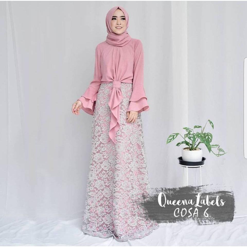 baju setelan muslim remaja COSA SET top skirt