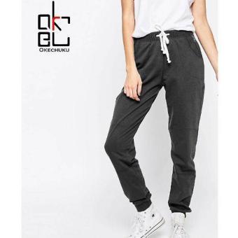 Price Checker Celana Jogger Pants Sofia DarkGrey Okechuku Sweatpants Basic Training pencari harga - Hanya Rp67