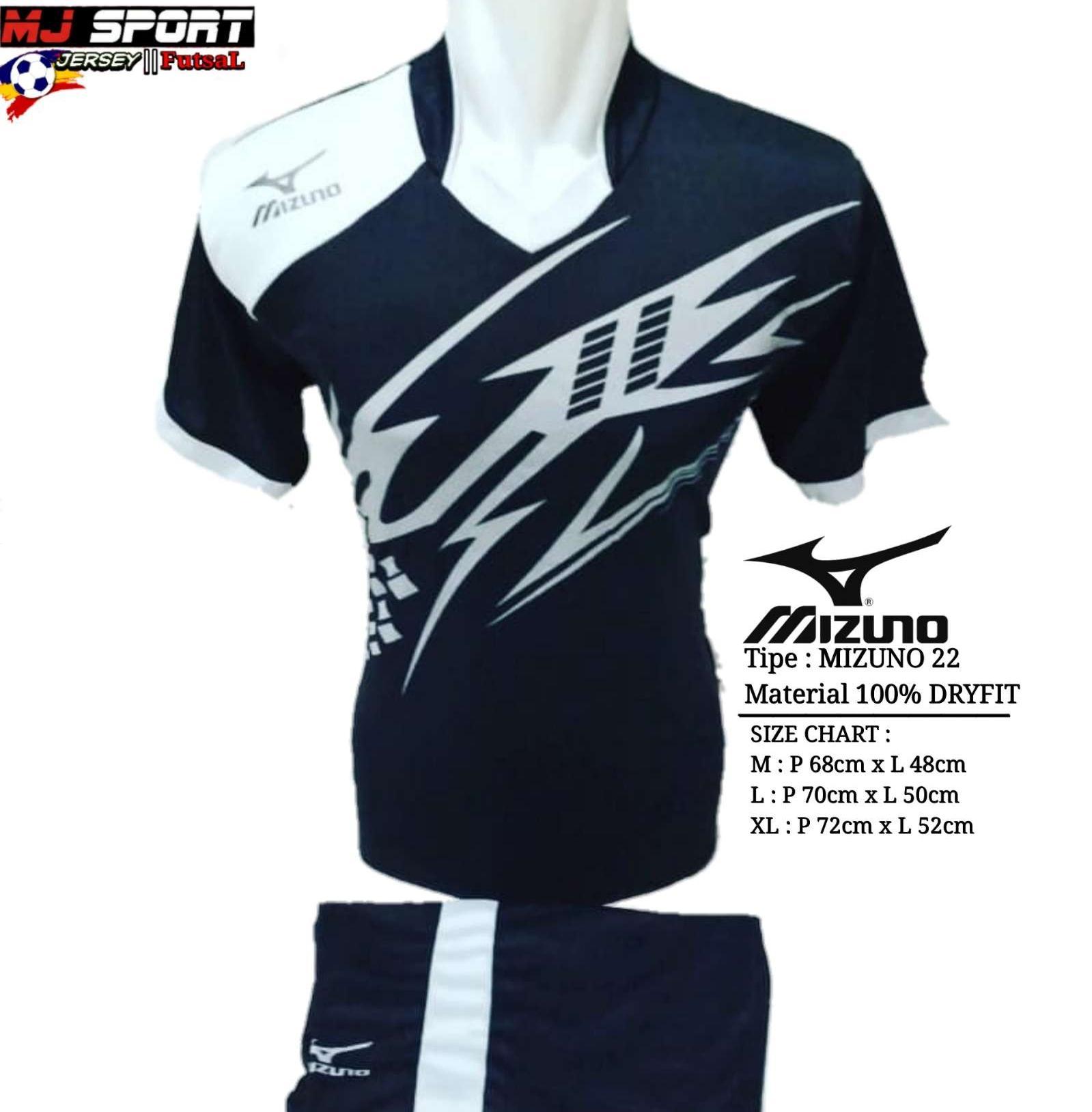 [ BEST SELLER ] Baju Olahraga Jersey Bola Setelan Futsal / Volly Badminton Mizuno