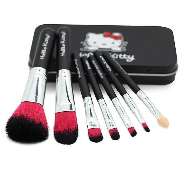 Kuas Hello Kitty Kaleng 7 PCS / Hello Kitty Brush Set 7 IN 1