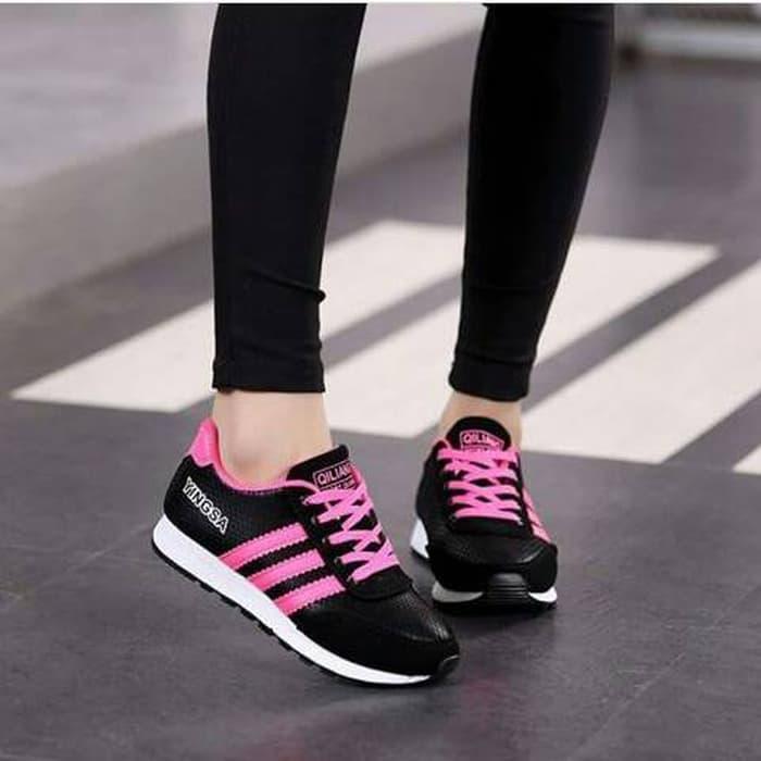 sepatu sneakers cewek adidas replika mo 74 black