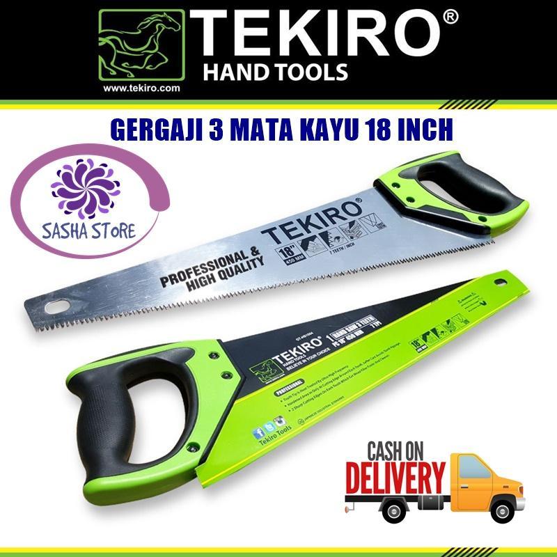 """SS Tekiro Gergaji 3 Mata Kayu 18"""" 18 inch / Original Tekiro Made in Japan"""