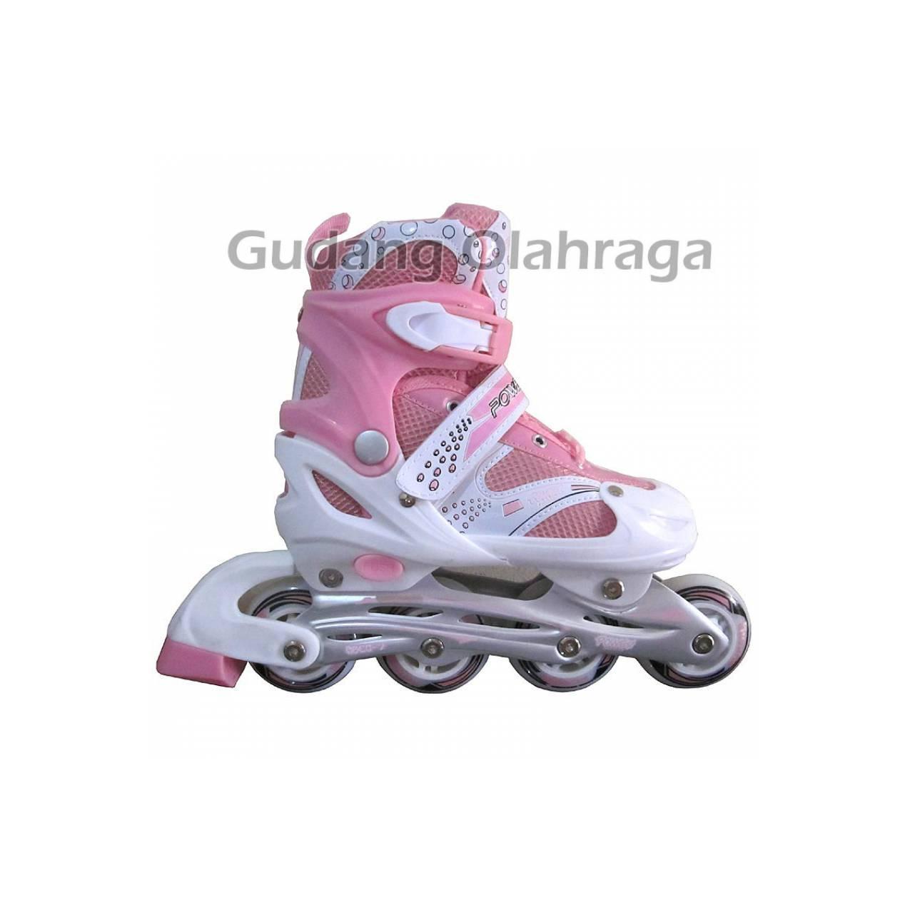 Sepatu Roda Inline Skate POWER SUPERB Pink Berkualitas 3067db0636