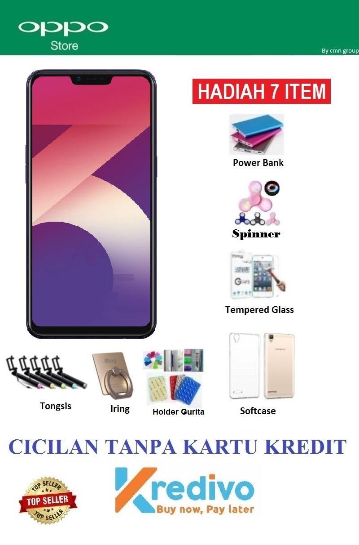 Oppo A3S Ram 3GB/32GB - Cicilan Tanpa Kartu Kredit + Paket 7 Acc