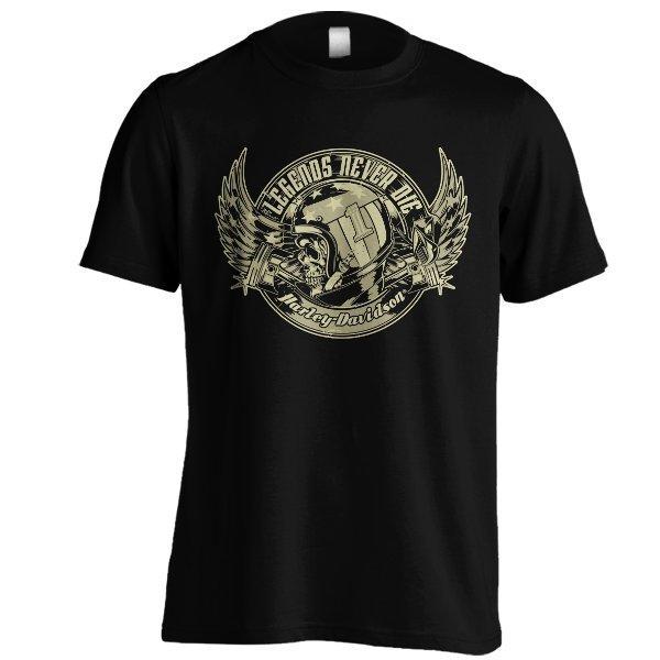 Kaos Harley Davidson Emblem 01 BRM BRO Hitam Baju Distro Motor Gede H