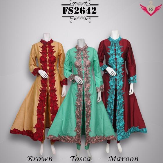 Toko Kirana Surabaya Gamis maxi dress baju gaun pesta busana muslim olla ramlan 642