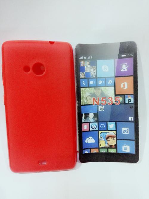 Casing Case Cover Sarung Silikon Softshell Glossy Nokia Kumia 535 Foto Asli.