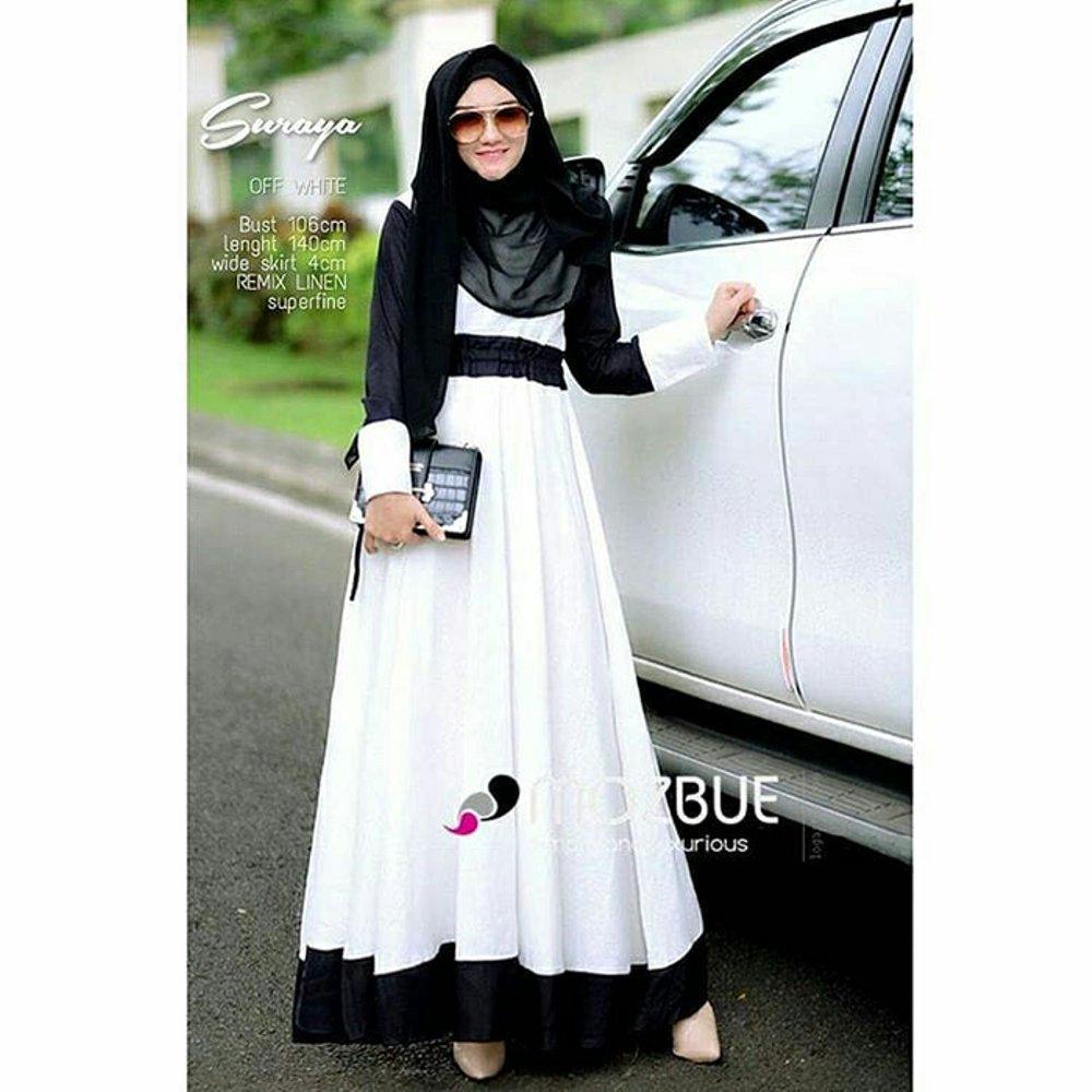 Baju Original Gamis Suraya Dress Baju Panjang Muslim Casual Wanita Pakaian  Hijab Modern Modis Trendy Terbaru 0660c6ec5a