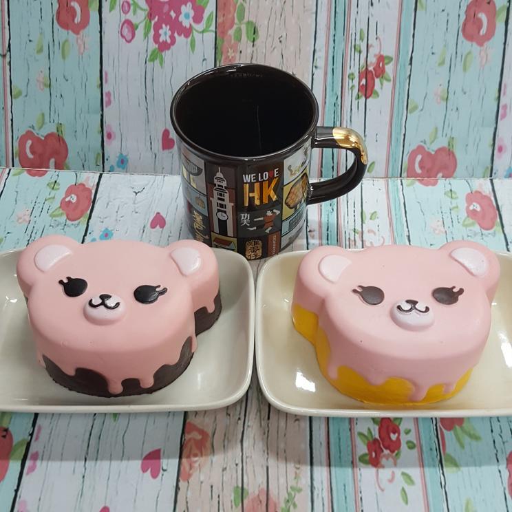 Mainan Anak Squishy Murah Replika Ibloom Tea Time Bear Rilakuma Mainan Edukasi Mainan Bayi  - HFAD