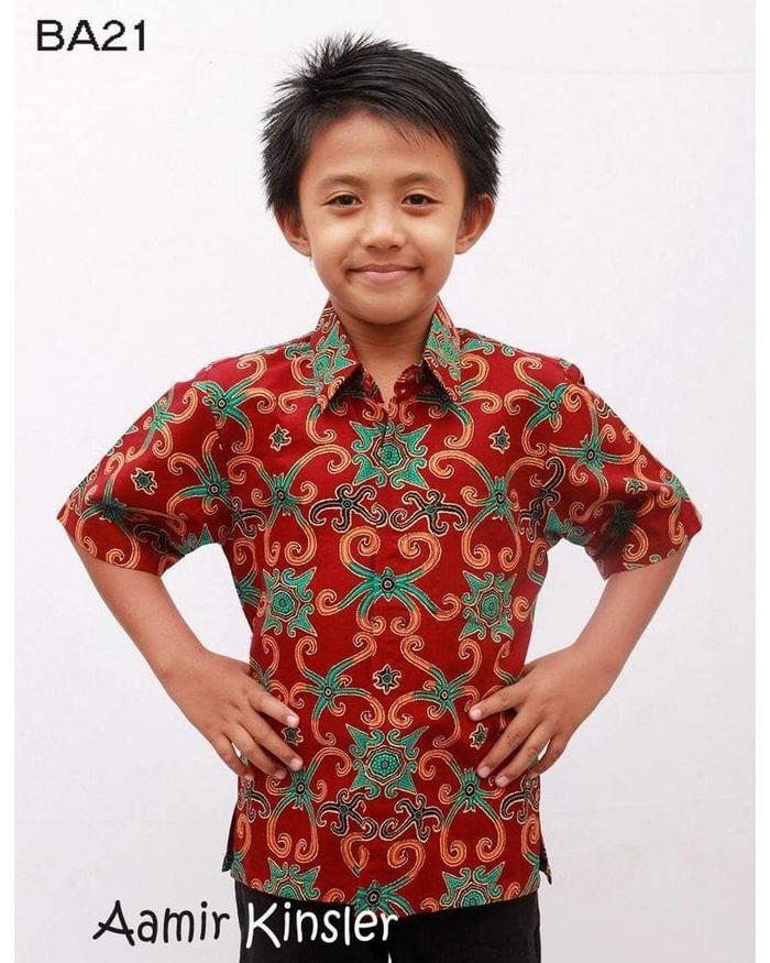 Kemeja batik Anak / Batik Anak Cowok / Batik Anak Laki /Kemeja Anak - 10 tahun