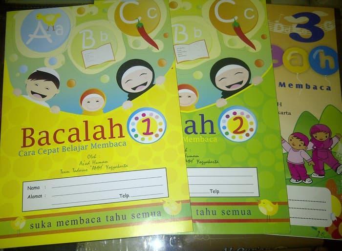 buku cara cepat belajar membaca / buku untuk anak belajar membaca 3 jilid