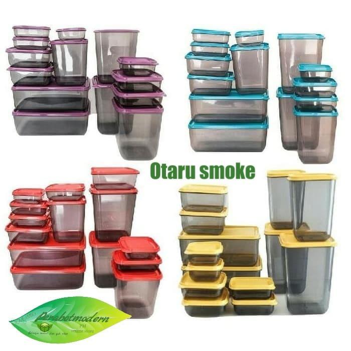 tempat makanan / Calista Otaru Sealware Set 7G Smoked - 14 Buah