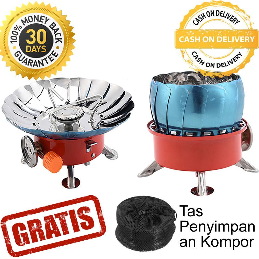 Kompor Camping Portable Hoki Tahan Angin Kovar - Kompor Gas Lipat Travel Windproof Portabel untuk Camping