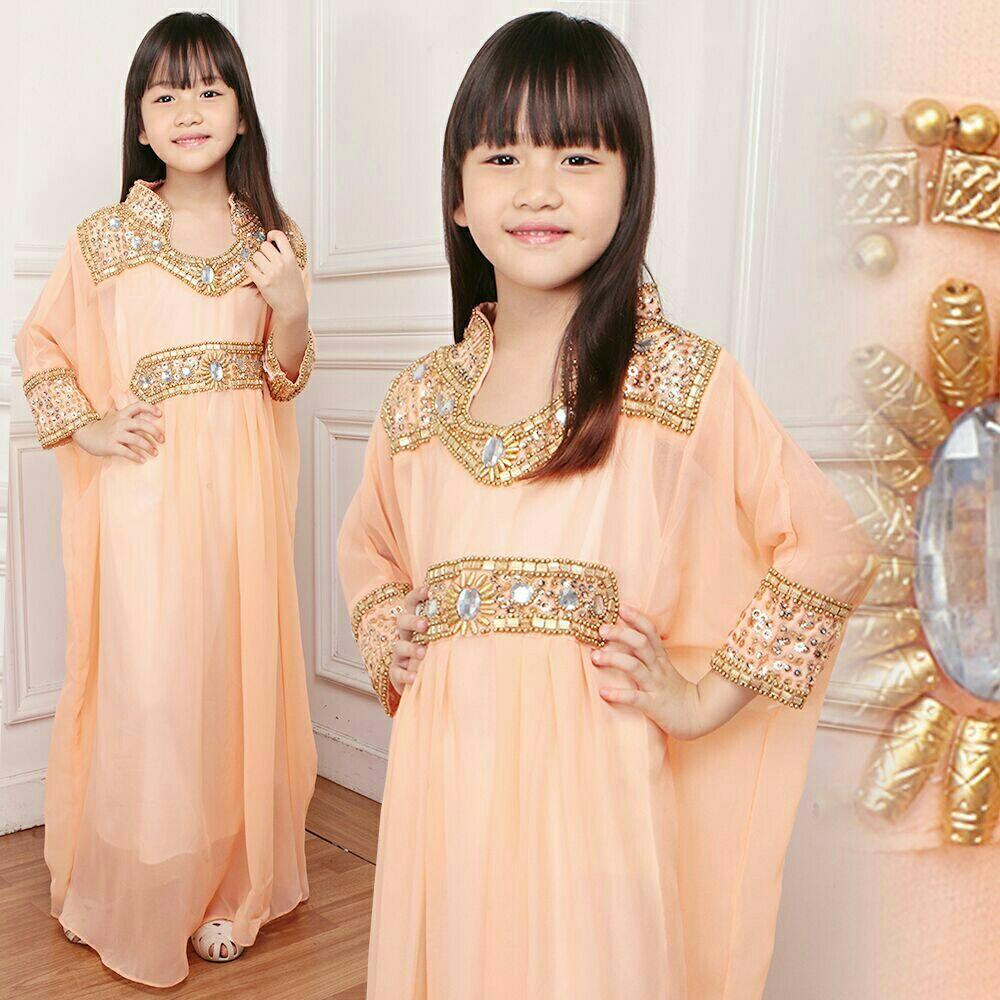 J&C Kaftan Adriana Kids / Dress Muslim Anak / Kaftan Muslim Anak / Kaftan Anak / Gamis Anak /  Baju Muslim Anak / Dress Anak / Setelan Muslim Anak