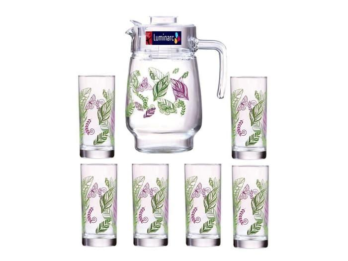Luminarc Set Teko & Gelas Kaca Octime Jug 11 & Octime Hb Tumbler 32 Source · Luminarc Teko Set Beverage set purple garden 7pcs set
