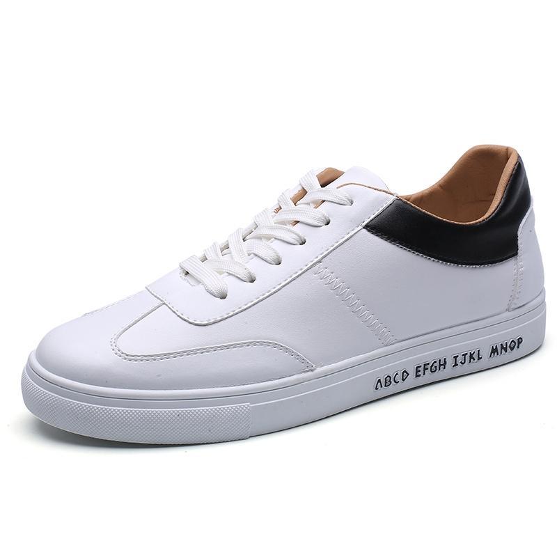 Harajuku Korea Modis Gaya Linen Laki-laki Di Mana Kain Sepatu Putih Sepatu Kanvas (Hitam atau Putih)