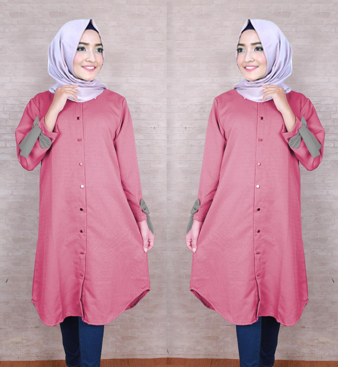 Kyoko Fashion Tunik Carla -(Dusty Pink) / Tunik Wanita / Baju Wanita /