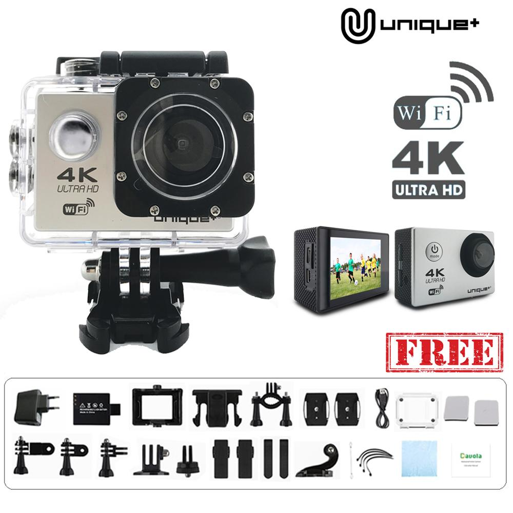 Unique Action Camera 4k Ultra Hd 16mp Wifi 1080p / 60fps 2.0 Lcd 170d Kamera With Waterproof Case By Pixio