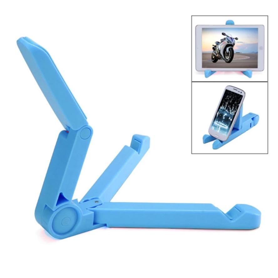 Portable Foid Stand - Holder Stand Ipad / Tablet / iPhone / Smartphone - Biru