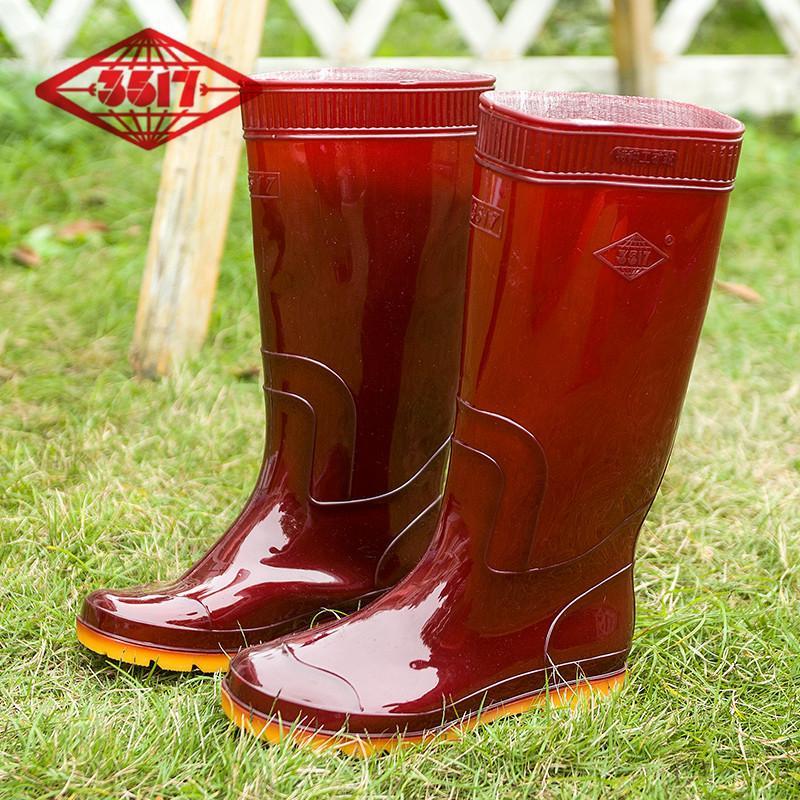 3517 Schick Perlindungan Pekerja Sepatu Anti Air Katun Kamuflase Sepatu Karet Ukuran Panjang Pancing Ikan Musim