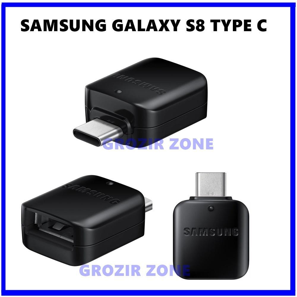 OTG Samsung S8 / S8 Plus USB Type C USB Connector Original - Black ( Grozir Zone )